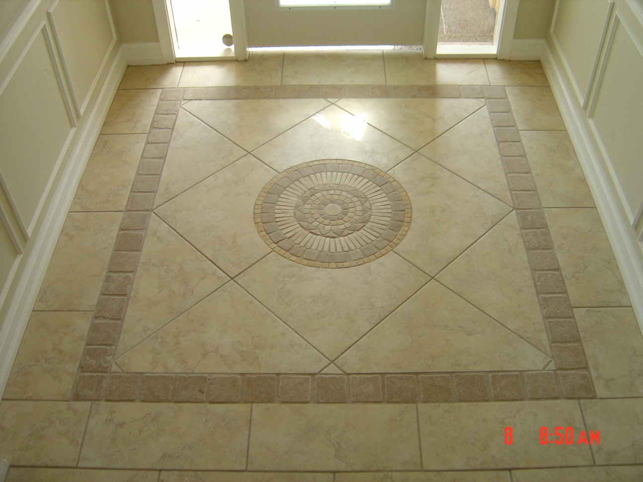 Entry design for Entrance foyer tiles